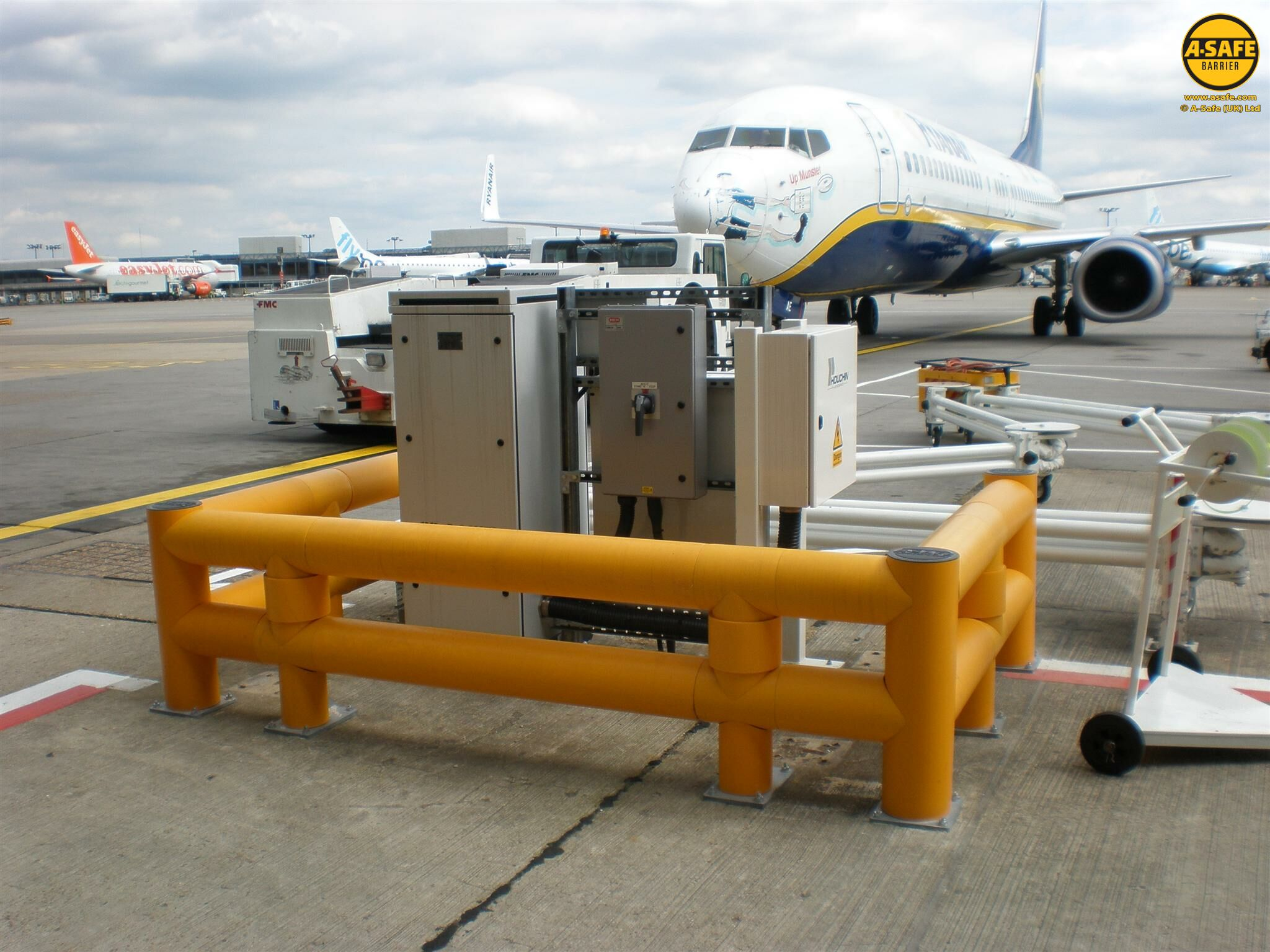 Airport Pedestrian and Vehicle Safety Barriers