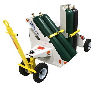 4-Bottle Tilting Oxygen/Nitrogen Service Carts