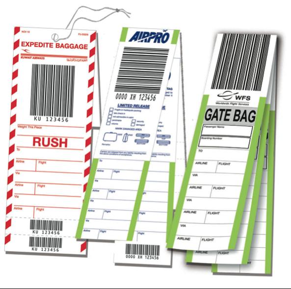 Airport Suppliers Security Label Gmbh Self Bag Drop Sdb Amp Rfid Baggage Tags Thermal