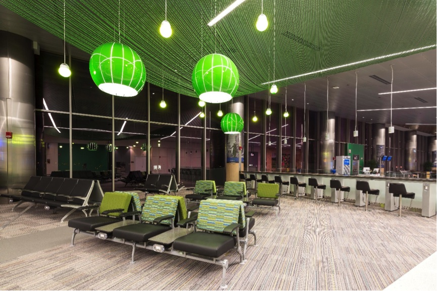 Public seating for airports and passenger terminals arconas for International seating and decor