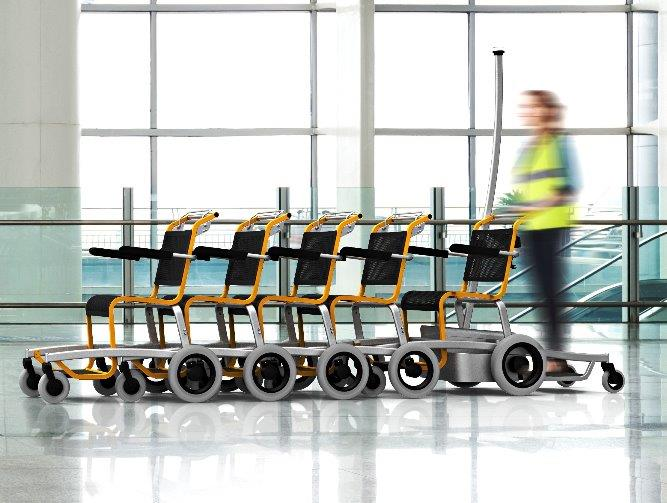 Self Propelled Transport Wheelchairs for Airport PRM Special Mobility