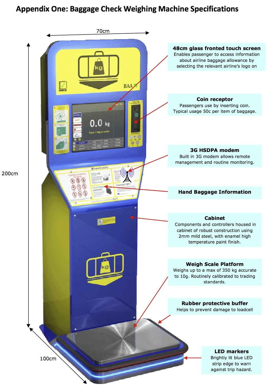 Baggage Check Weighing Machines For Airports Baggage