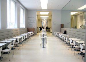Banquette café seating