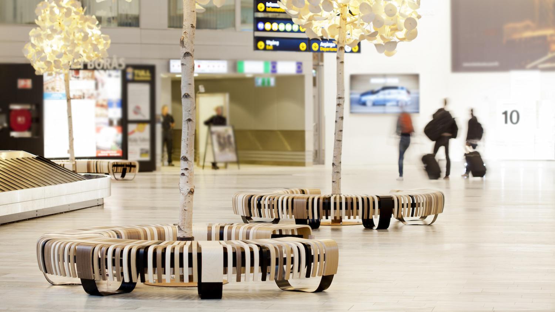 Green Furniture Concept Airport Terminal Signature Seating