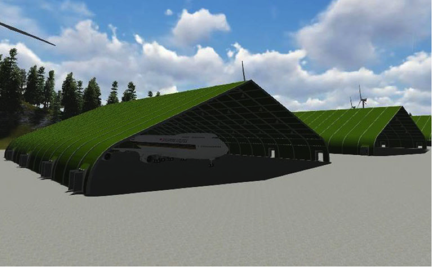 Liri Tent Technology Temporary Structures For Aircraft