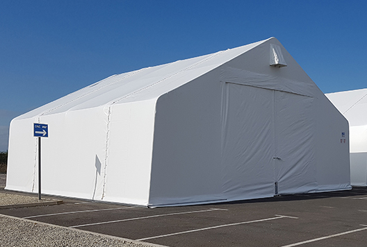 8m span x 18m long THA Building package includes u2022 Galvanised steel framework u2022 Single skin PVC cladding u2022 1 off 3.3m x 3.8m PVC folding door & Defence Suppliers - Press Release - Rubb Military Buildings ...