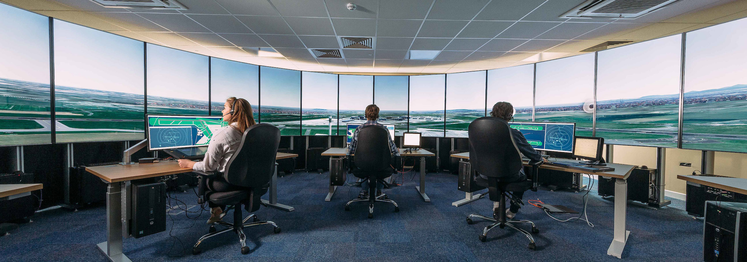 #876A44 New State Of The Art Air Traffic Control Tower Simulator  Most Effective 8445 Air Conditioning Course Ireland pictures with 2400x844 px on helpvideos.info - Air Conditioners, Air Coolers and more