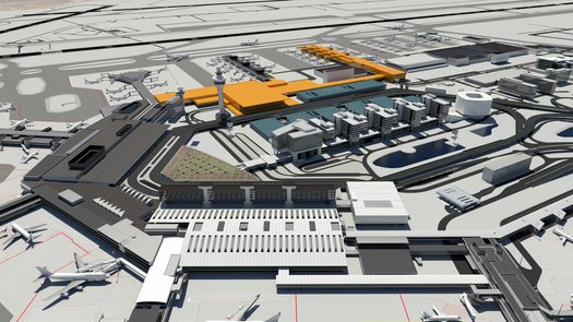 Design teams pitch for Amsterdam Airport Schiphol new terminal