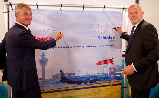 Royal Schiphol Group has announced that all Dutch airports to be completely powered by wind farms by 2020
