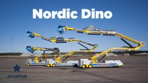 Aircraft exterior cleaning robot - Nordic Dino