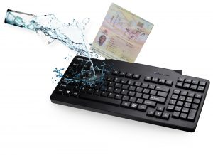 NEPTUN chrom® – Water and Dust Resistant Check-in Keyboard