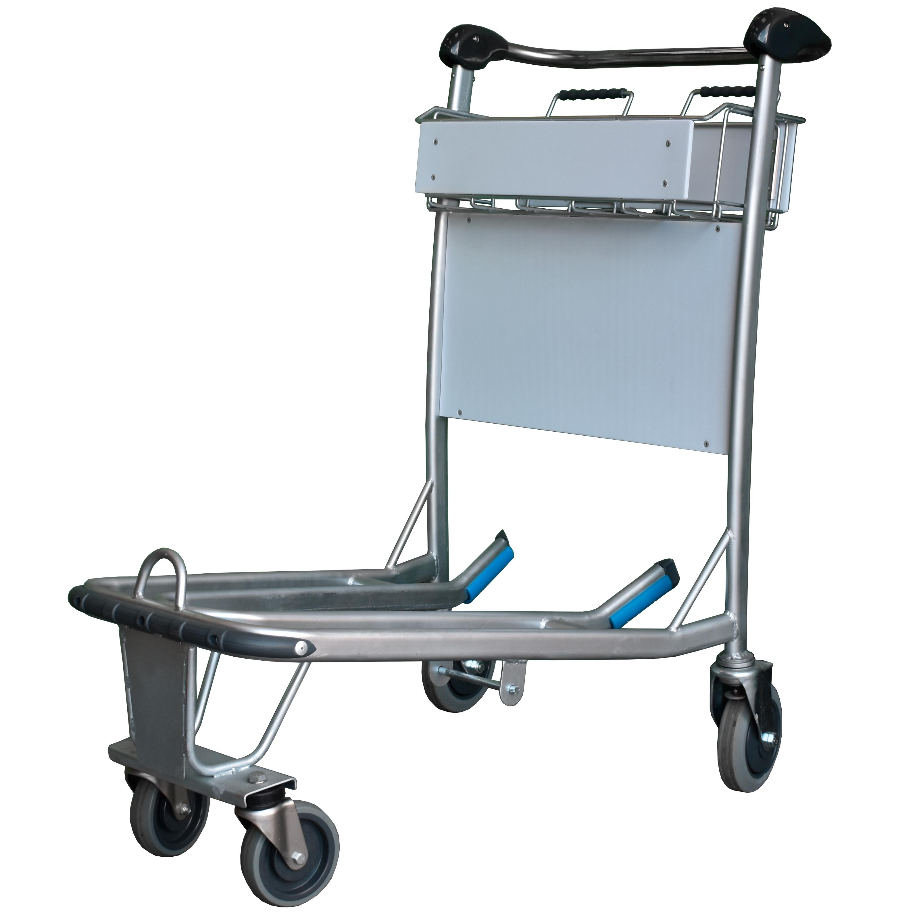 1a404f37ddf5 Explorer Range - Stainless Steel Baggage Trolley - 4 Wheels ...