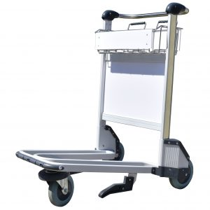 Trafficker Range - Aluminium Baggage Trolley - 3 Wheels