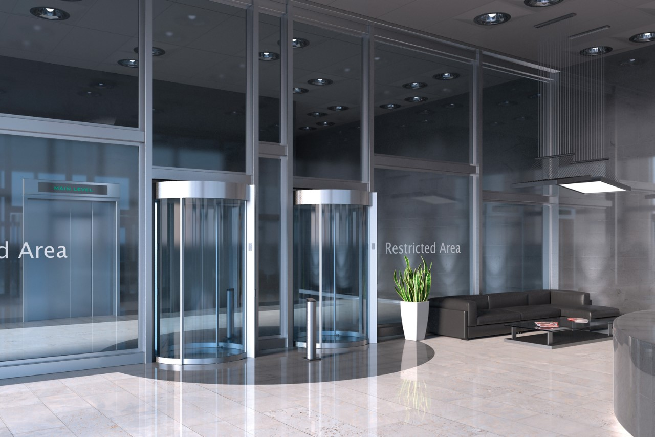 Security Interlock As Access Control System Airport