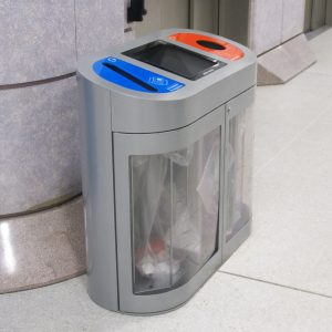 Torpedo Triple Security Recycling Bin