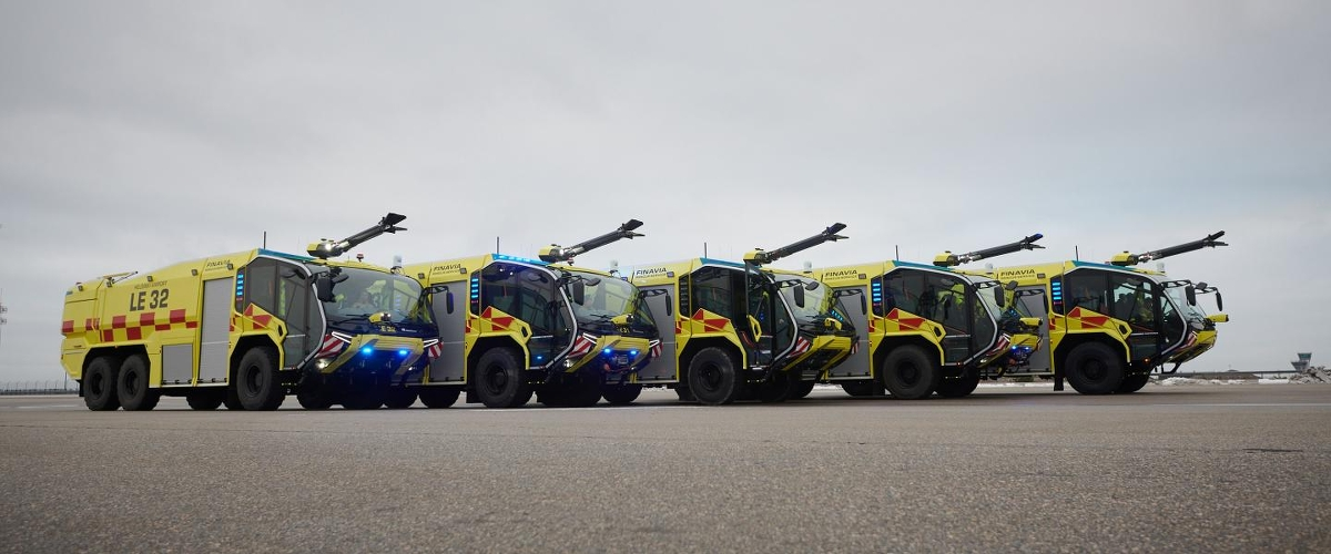Here Come The 37 Ton Panthers Introducing The New Rescue Vehicles Of Helsinki Airport Airport Suppliers