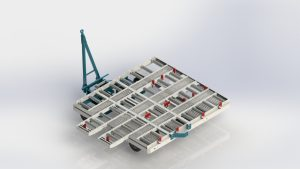 LINEMA LP-50 Container Dolly with Fingers