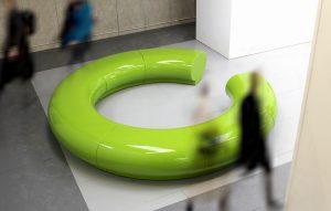 Halo Modular Circular Seating and Planters