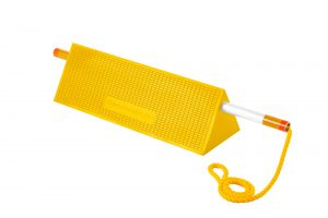 Mark III Wide Body Chock Yellow with Rope