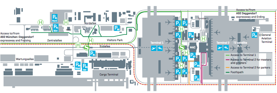 map of munich airport terminal 2 Munich Airport Airport Suppliers map of munich airport terminal 2