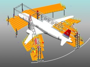 Large, Wide, Narrow Aircraft Docking System