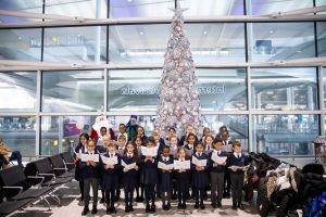 Heathrow Primary students un-wrap Christmas at the airport