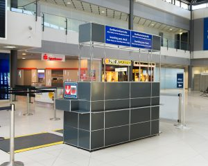 Boarding pass control counter
