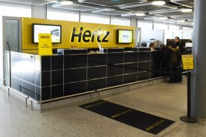 Rental car counter