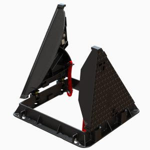 In house design ductile iron triangular covers and frame with safety bars For airport electrical and lighting networks