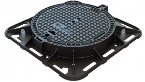 In house design ductile iron circular cover and frame For airport sewage and water networks