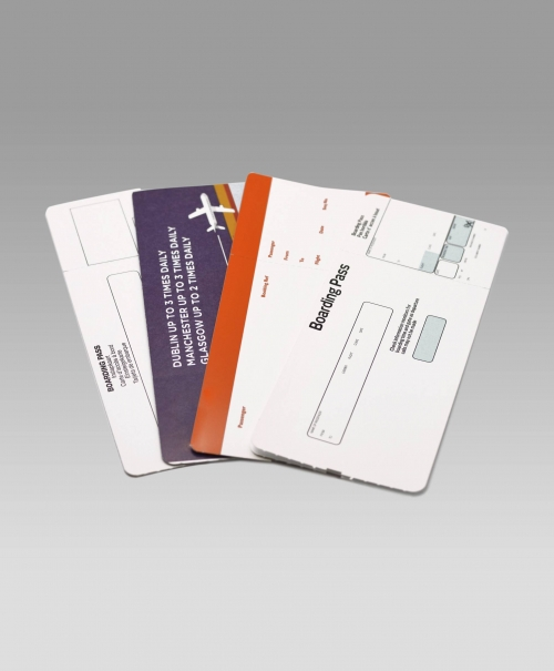 Airline boarding cards and passes, baggage tags