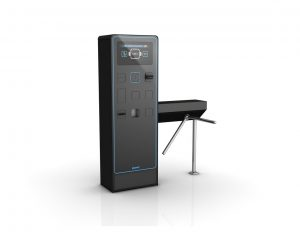 EasyGo turnstile with V7/V21 ticket machine