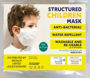 Children's Structured Protective Face Mask - 8-12 years - MOQ 100