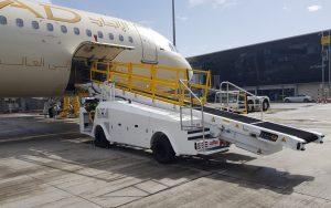 Aircraft baggage loading system – Belt loader