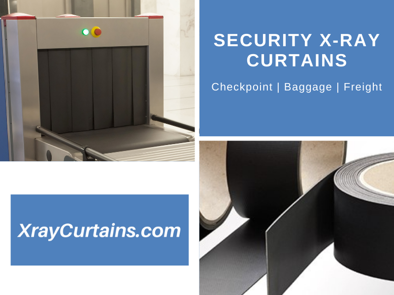 Radiation shielding curtains for X-ray security scanners