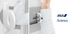 Jamco and ANA Partner to Test the World's First Hands-Free Lavatory Door