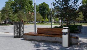 Outdoor Ashtrays & Litter Bins:  KOA, KOPA, ARKEA, BELLA,