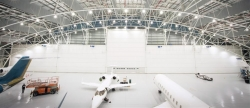 Vertical Lifting Fabric Hangar Doors for Aircraft