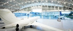 Vertical Lifting Fabric Hangar Doors for Aircraft